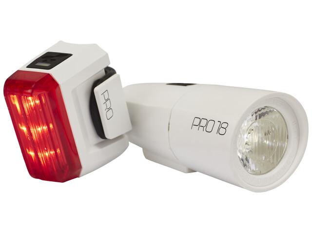 Cube Pro 18 - Kit éclairage vélo - blanc
